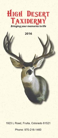 Brochure Price List High Desert Taxidermy